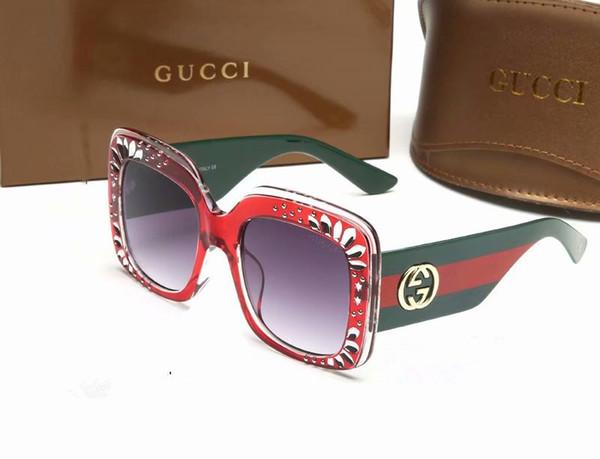 mode populaire concepteur de lunettes haut de gamme Hommes et femmes classiques Lunettes de soleil de haute qualité