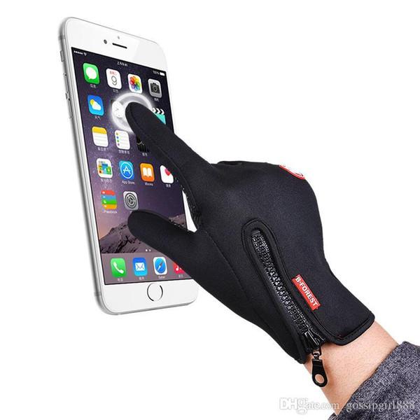 Hombres y mujeres al aire libre guantes de pantalla táctil ejercicio ciclismo guantes al por mayor guantes de esquí de invierno a prueba de viento