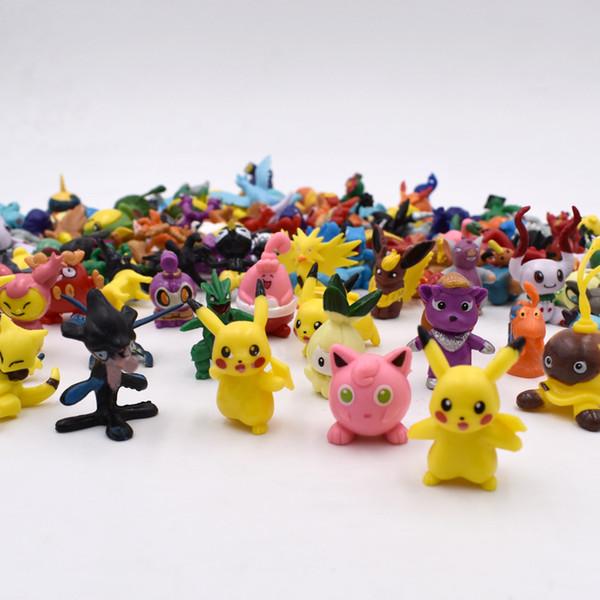 144 Pz / lotto In Casuale Caldo Brand New Carino Pikachu Figure Mini Monster Action Figure Toy Lot 2-3 cm Regali Di Natale Spedizione Gratuita Y19051804
