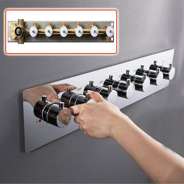 Di alta qualità Multi-funzione controller testa doccia in ottone cromato Termostatico acqua valvola doccia set doccia valvola deviatore sensore