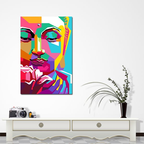 5pcs Rectangle The Giant Buddha Canvas Art Print Picture For Wall Hangings Home Decor Impression Spray Oil Paintings