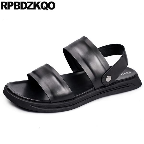 sandali nativi in vera pelle scarpe firmate uomo gladiatore di alta qualità nero romano italiano open toe slides pantofole estate