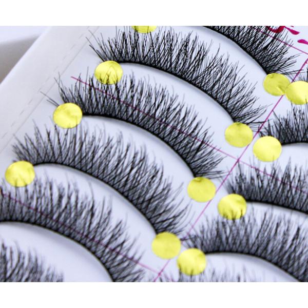10 Pairs /Box Long Natural Makeup Black Handmade Thick Fake False Eyelashes New