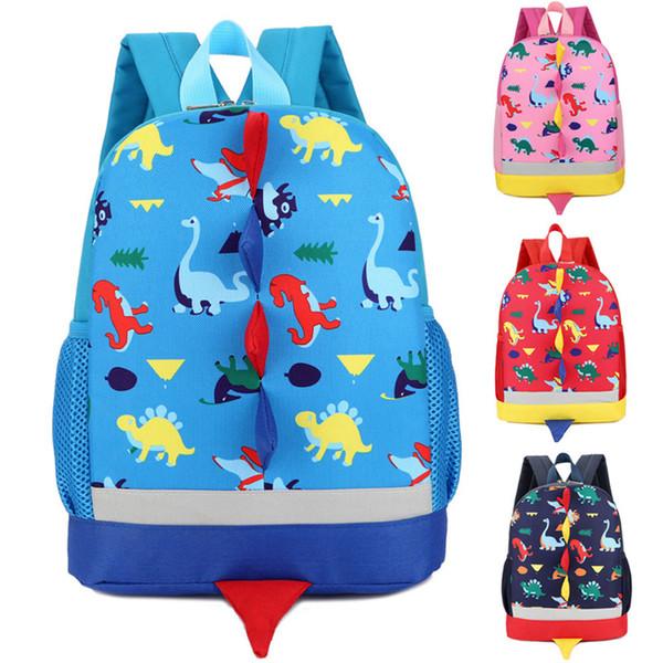 Мальчики Девочки Дети Динозавр Шаблон Животные Рюкзак Малыша Мешок Школы 40#