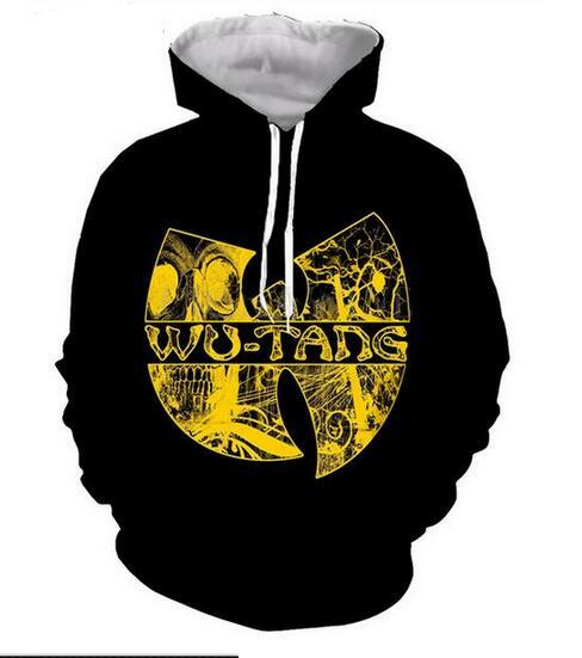 Fashion Clothing Wu Tang Clan Monster Men&Women Hoodies Unisex Casual Style 3d Print Hoodie Hip Hop Sweatshirts Jacket Pullover Tops RG0040