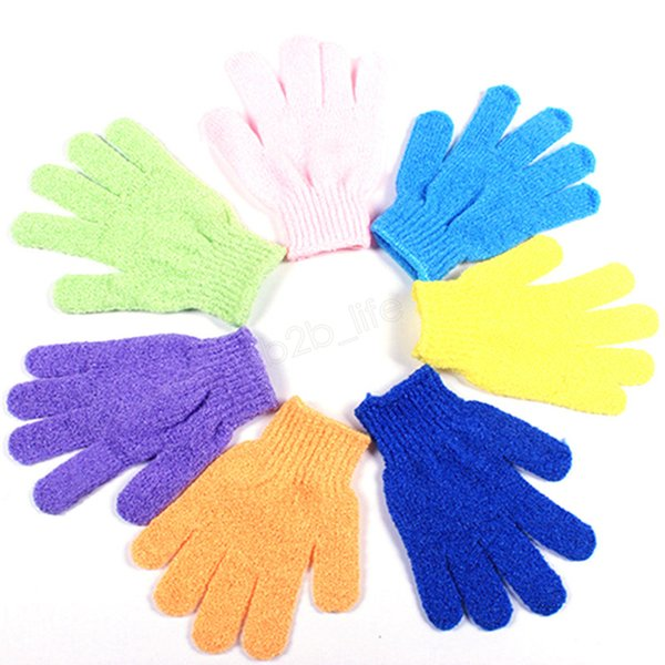 Moisturizing Spa Cloth Bath Glove Skin Care Exfoliating Gloves Cloth Face Nylon Massage shower Tool Dead Skin Cell Remover Scrubber LJJA2768