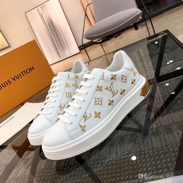 New2 fashion casual men's shoes wild personality sports shoes outdoor comfort pattern flat men's shoes original box packaging fast