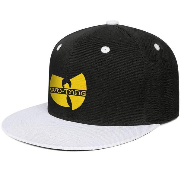 Casual Flat Wu Tang Clan logo yellow Mesh hat Polo