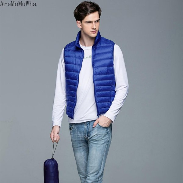 AreMoMuWha Daily Specials Down Vest Men's Lightweight Down Jacket Vest Collar Short Paragraph Large Size Couple Models