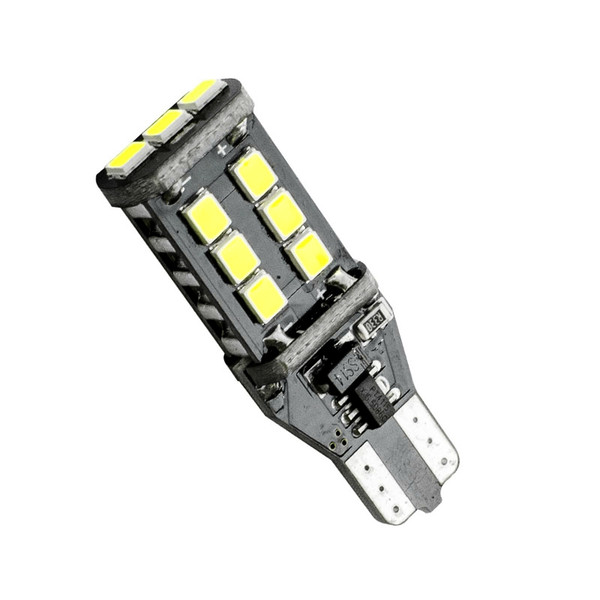 10PCS T15 W16W WY16W 15 SMD 2835 LED CANBUS NO ERROR Car Tail Bulb Brake Light Auto Reverse Lamp Turn Signals red white yellow