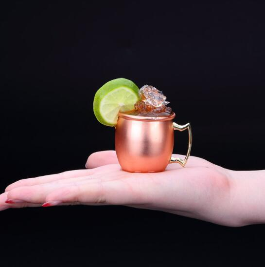 DHL 60ml Moscow mug mini stainless steel Hammered Copper Plated Moscow Mule Mini Wine Beer Copper cup
