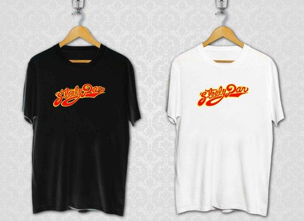 Steely Dan Logo Jazz Funk Rock Band Legenda musicale Black White TShirt Taglia S-3XLFunny Maglietta casual Unisex Casual top