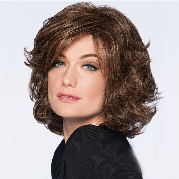"""12"""" Short Bob Hair Wigs Straight with Flat Bangs Synthetic Colorful Cosplay Daily Party Wig For Women Natural As Real Hair+ Free Wig Cap"""