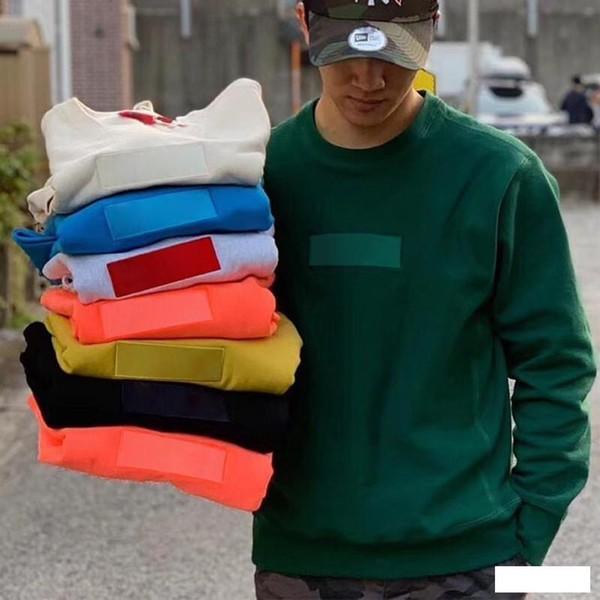 19FW 12 Colori BOX LOGO Felpa Girocollo Moda Casual Uomo Donna Pullover Paio Outfit Maglione Street HFLSWY243-YP