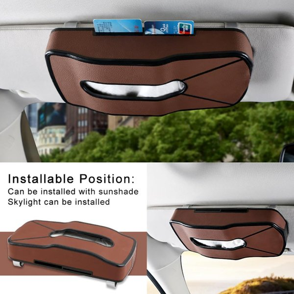 Faux Leather Hook Hanging Home Car Tissue Paper Holder Storage Box Napkin Case 2019