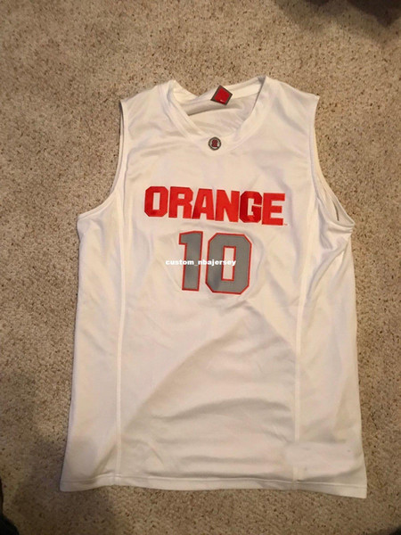 Cheap custom 2009 Syracuse Orange #10 Basketball Jersey Jonny Flynn Stitched Customize any number name MEN WOMEN YOUTH XS-5XL