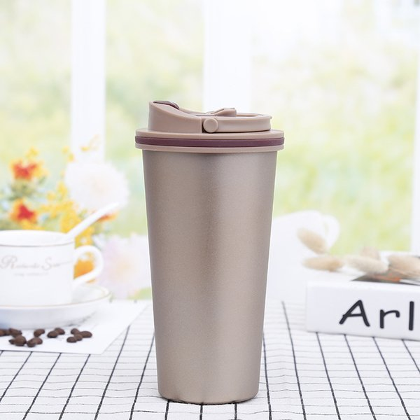 Hot Sale New 500ml Tumblers Coffee Mug Stainless Steel Double Wall Vacuum Insulated Beer Cups Drinkware Vacuum Mugs With Clear Lids