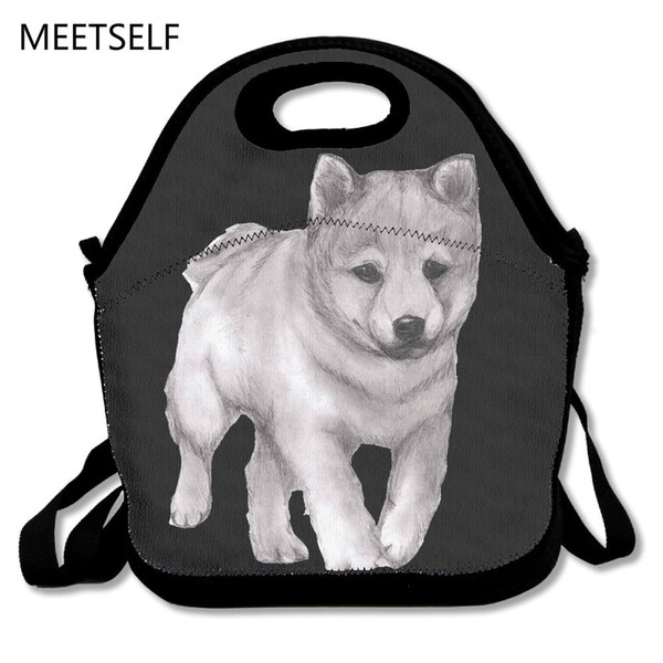 SAMCUSTOM 3D Print Cute Shiba Inu Lunch Bags Insulated Waterproof Girl Packages men and women Kids Babys Boys Handbags