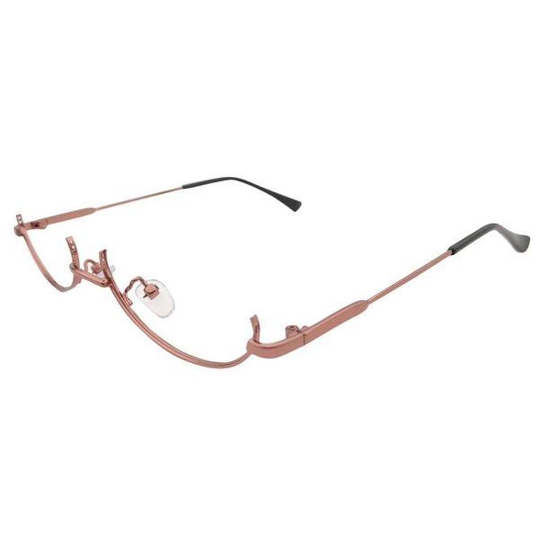 Vintage Brand Designer Metal Small Glasses Half Frame Sunglasses Women Ladies Shades 2019 Semi Rimless Sport Eyewear