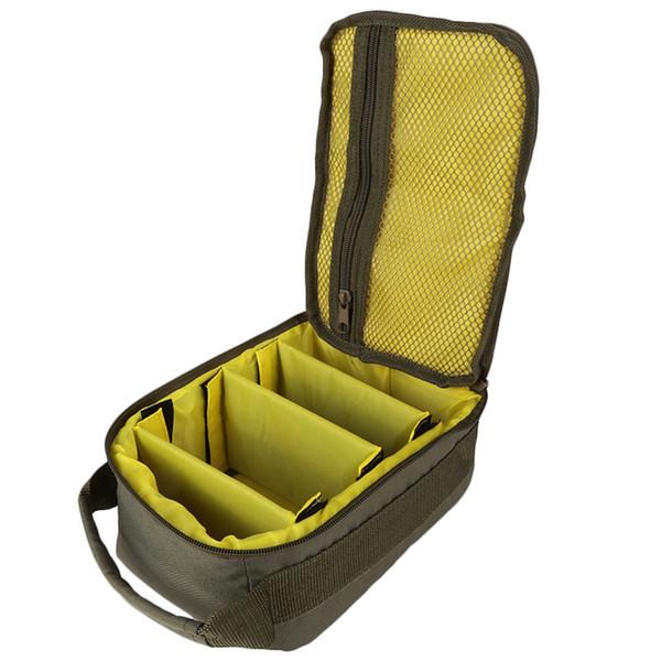 600D Outdoor Fishing Storage Bag 4 Layer Adjustable Multifunction Handbag Fishing Line Reel Lure Hook Accessary Bags