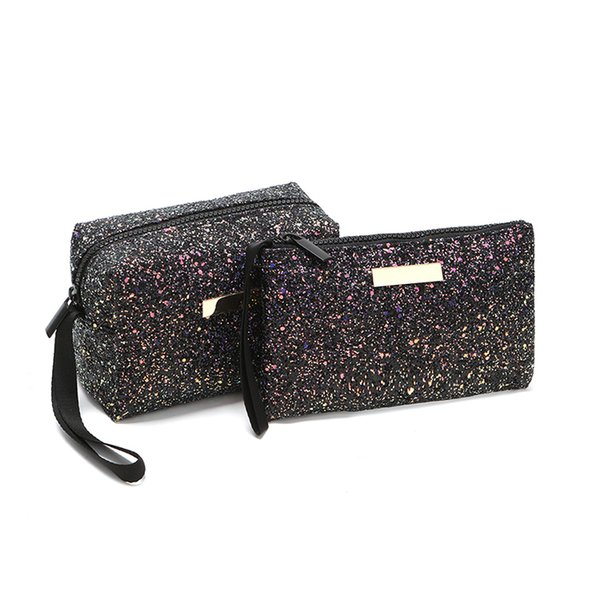Women Fashion Handbags Mermaid Sequin Makeup Bag Reversible Double Color Glitter Cosmetic Bag Lazy Makeup Zipper Pouch