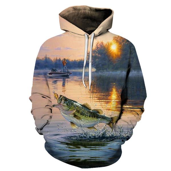 2019 Fishinger Balıkçı Için Komik Hoodies Erkek Kadın Uzun Kollu Hoody Tişörtü Kapşonlu Streetwear Hip Hop Ceketler