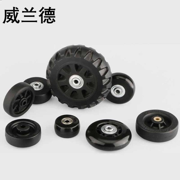 Traveling Luggage wheels repair suitcase accessories fashion new universal wheels replacement 360 spinner luggage casters