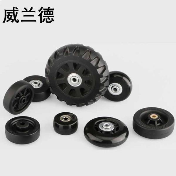 Ruedas de equipaje de viaje reparación accesorios de maleta moda nuevas ruedas universales reemplazo 360 ruedas giratorias de equipaje