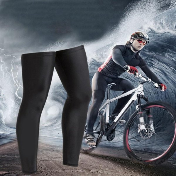 best selling High Elastic Bicycle Cycling Legwarmers Leggings Cycling Winter Thermal Fitness Bike Training Leg Sleeve