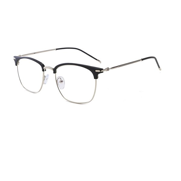 Super Thin Light Man Woman Anti Blue Optical Frame Halfrim Glasses Eyebrow Design Eyewear Metal Frame Free Shipping R966