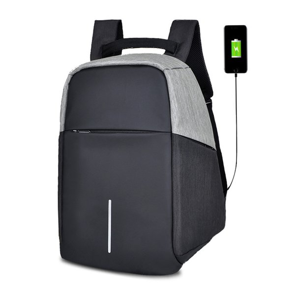 Man Business Affairs Both Shoulders Package USB Charge Male Package Outdoors Travel Guard Against Theft More Function laptop bag case