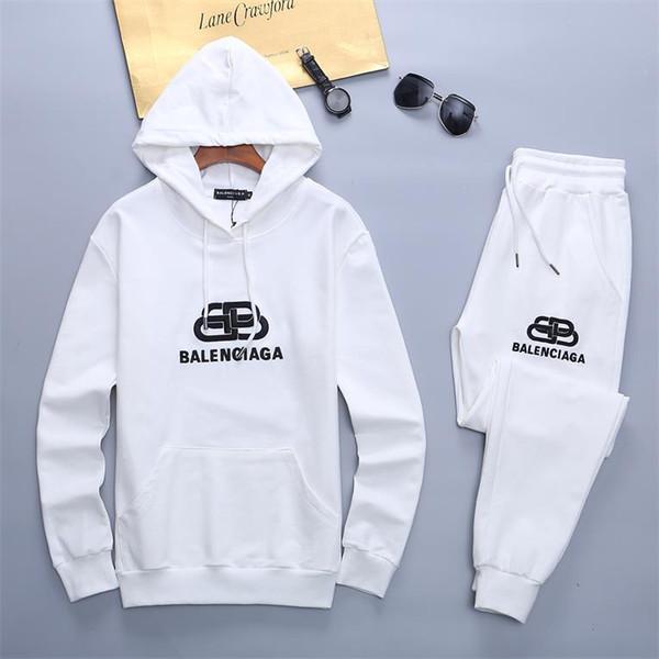 2019 vestito del hoodie di primavera nuovi sport di tendenza di cotone sport casuali degli uomini della molla a due pezzi maglione di formato m-3XL TU07