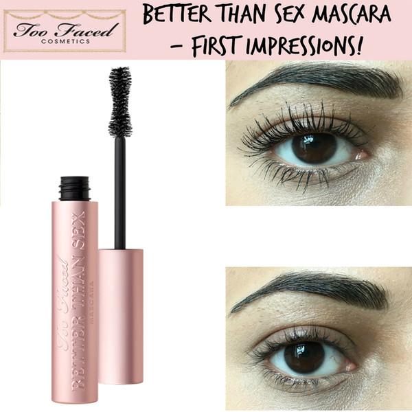 Too Fast Ship Faced Mascara Better Than Sex Cool Black Fiber Long Roll Lasting Good Quality TF Mascara Thick Waterproof Eye Makeup Free DHL