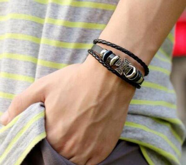 Punk Bracelet source leather bracelet hand Vintage cowhide Bracelet 20pcs/lot W991