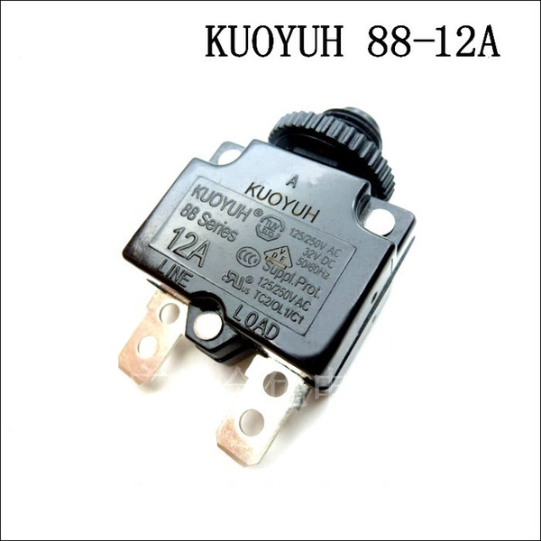 best selling Taiwan KUOYUH Overcurrent Protector Overload Switch 88 Series 12A