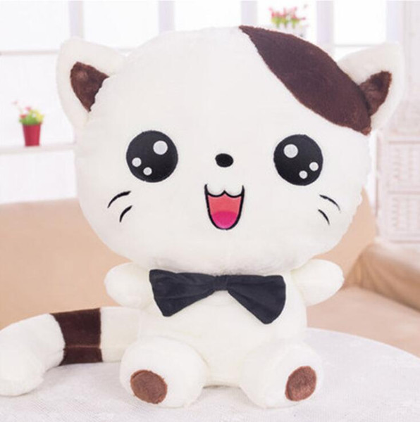 Almohada de peluche chica regalo de peluche Gato de peluche de juguete cara grande gato muñeca almohada muñeca linda muñeca