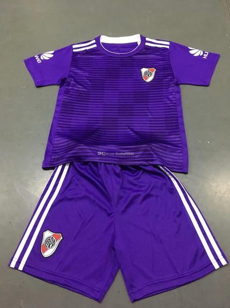 kids 2018 River Plate away Short sleeve Football Shirt 19 18