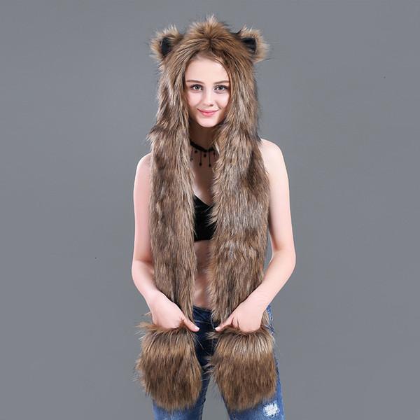 yellow fox fur-100c m