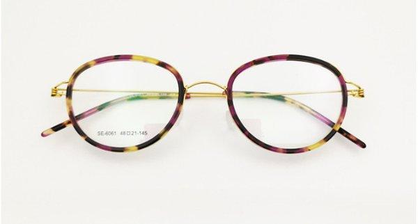 El yapımı 6061 gözlük çerçeve no-vida tasarımcı küçük yüz titanyum gözlük 48-21-145 hafif H-RX-reçete gözlük tam set kılıf