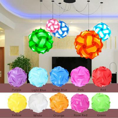 top popular wholesale free shipping iq puzzle lamp iq jigsaw lights Small Medium Large size 300pcs per lot 10 colors for choice 30pcs=1 light 2019