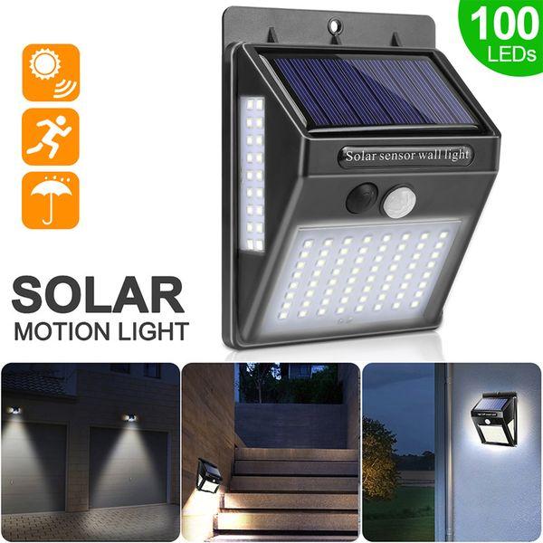 Compre Solar La LED Luz Lámpara De Sensor Libre Luz PIR Impermeable 100 De La Sol Solar Aire De Del La Al Luz Pared Con Energía De Movimiento Del Ee2IW9HYbD