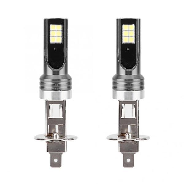 2pcs 3030 12led h1 24w 6000k car led fog lamp auto accessory fog light dc12v-24 v