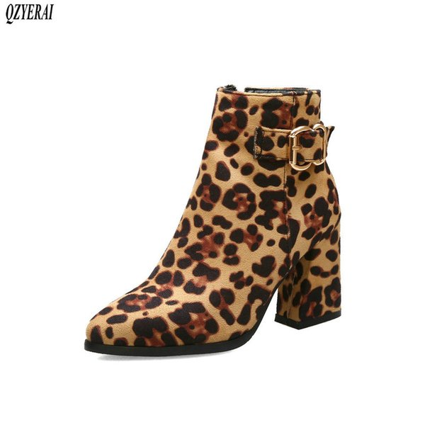 2019 new women suede boots flock ankle boots women winter warm high heels stretch fabric