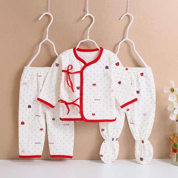 good quality baby girls clothing set newborn baby cotton underwear Toddler 3pcs suits for infant pajamas sets baby sleepwear