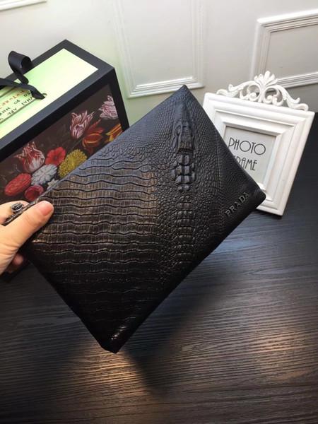 Novas Bolsas de Alta Qualidade Homens Sacos de Moda Pastas Totes Men Briefcases Casual Crocodile Handbag Sacos Clássicos