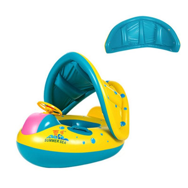 best selling Baby Kids Summer Swimming Pool Swimming Ring Inflatable Swan Swim Float Water Fun Pool Toys Swim Ring Seat Boat Sport for 3-6Y