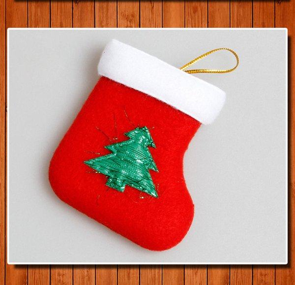 Cute Xmas Candy Bag Christmas Tree Hanging Ornament Socks Party Home Decoration New Stocking Cartoon Plush Gift