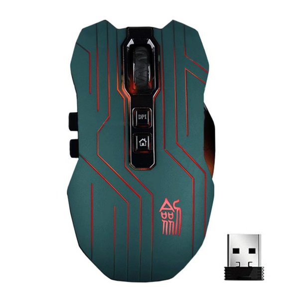 9D 3200DPI Optical 2.4G Wireless Gaming Mouse For DotA FPS Laptop PC GN Portable Optical 8 buttons with scroll wheel#ZS