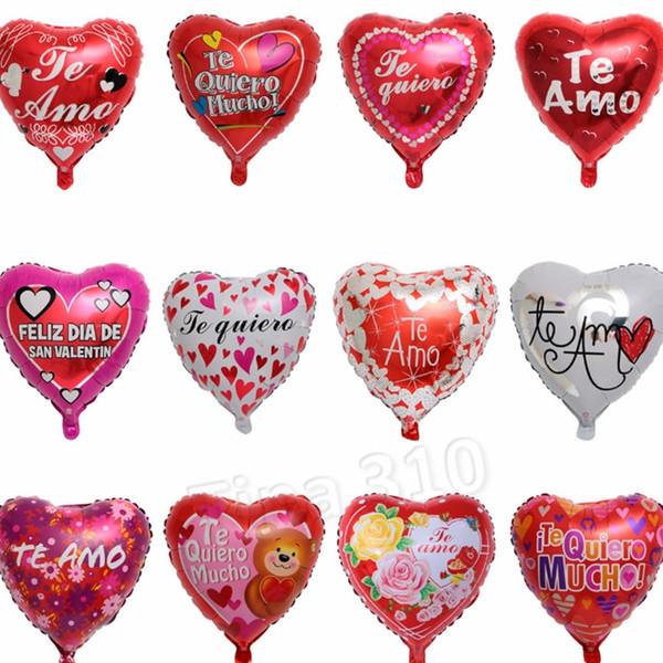 18-zoll spanisch valentinstag ballon hochzeitsdekoration ballon stilvolle umweltfreundliche aluminiumfolie ballon kinder spielzeug T2I5009