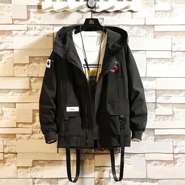 2019 Otoño Nuevos hombres Ocio Moda Camuflaje Chaqueta con capucha Sin forro Prenda superior Zipper Casual Imprimir Chaquetas y abrigos para hombre